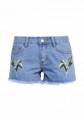 Купить Шорты джинсовые By Swan голубой BY004EWSFQ28