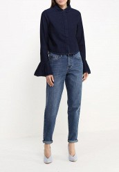 Рубашка джинсовая LOST INKPLEAT SLEEVE CROP DENIM SHIRT