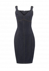 Купить Платье джинсовое GIA BUCKLE DETAIL STRAPPY DENIM DRESS LOST INK синий LO019EWRWB40