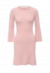 Купить Платье LOST INK MOVING RIBS FIT AND FLARE KNIT DRESS розовый LO019EWRWB42 Соединенное Королевство