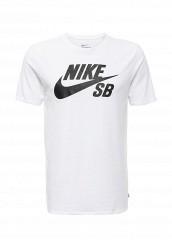 Купить Футболка спортивная SB LOGO TEE Nike белый NI464EMJFU35