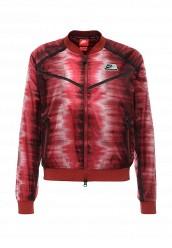 Купить Ветровка W NK INTL JKT FZ AOP Nike красный NI464EWJGC91