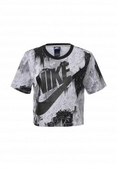 Купить Футболка W NSW TOP CROP NLGHTS Nike серый NI464EWJGE56