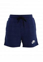 Купить Шорты спортивные W NSW AV15 SHORT KNT Nike синий NI464EWRZB10