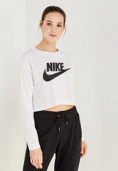 Купить Лонгслив W NSW ESSNTL TOP LS CROP HBR Nike белый NI464EWUGZ18