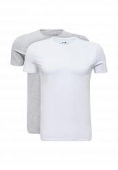 Купить Комплект футболок 2 шт. oodji белый, серый OO001EMUTX27