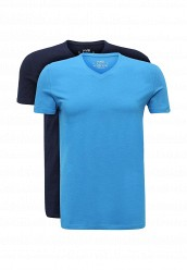 Купить Комплект футболок 2 шт. oodji голубой, синий OO001EMUTX34