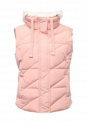 Купить Жилет утепленный oodji розовый OO001EWRDW13