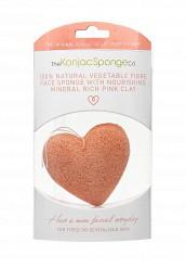 Купить Спонж The Konjac Sponge Co для умывания лица Premium Heart Puff with French Pink Clay (премиум-упаковка) TH015LWKHO43 Корея, Республика