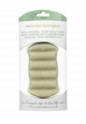 Купить Спонж The Konjac Sponge Co для мытья тела Premium Six Wave Body Puff with French Green Clay (премиум-упаковка) TH015LWKHO46 Корея, Республика