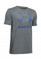 Купить Футболка спортивная UA Hybrid Big Logo Under Armour черный UN001EBTVJ43