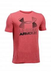 Купить Футболка спортивная UA Hybrid Big Logo Under Armour красный UN001EBTVN04