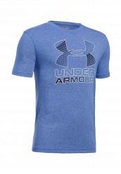 Купить Футболка спортивная UA Hybrid Big Logo Under Armour синий UN001EBTVN05