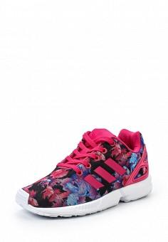 Кроссовки adidas Originals ZX FLUX с эффектным цветочным принтом по