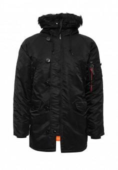 Парка, Alpha Industries, цвет: черный. Артикул: AL507EMNHI46. Мужская одежда / Верхняя одежда / Парки