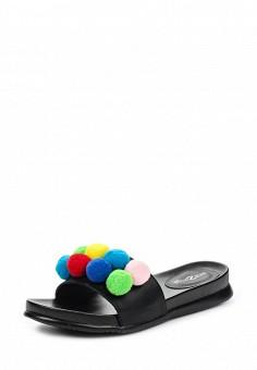 Шлепанцы, Amazonga, цвет: черный. Артикул: AM338AWQLB68. Женская обувь / Шлепанцы и акваобувь
