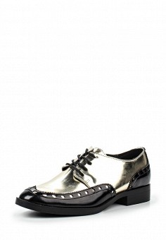 Ботинки, Anesia, цвет: золотой. Артикул: AN045AWPYO09. Женская обувь / Ботинки / Низкие ботинки