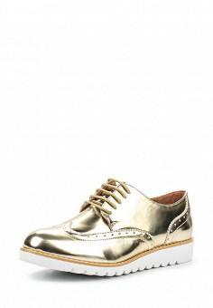 Ботинки, Anesia, цвет: золотой. Артикул: AN045AWPYO16. Женская обувь / Ботинки / Низкие ботинки