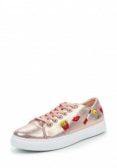 Кеды, Angelo Milano, цвет: розовый. Артикул: AN053AWPSU70. Женская обувь