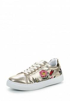 Кеды, Angelo Milano, цвет: золотой. Артикул: AN053AWPSU74. Женская обувь