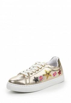 Кеды, Angelo Milano, цвет: золотой. Артикул: AN053AWQQA12. Женская обувь