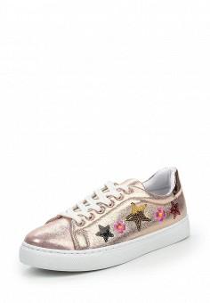 Кеды, Angelo Milano, цвет: золотой. Артикул: AN053AWQQA14. Женская обувь