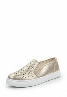 Слипоны, Angelo Milano, цвет: золотой. Артикул: AN053AWQQA21. Женская обувь