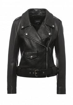 Куртка кожаная, Arma, цвет: черный. Артикул: AR020EWQOF37. Женская одежда / Верхняя одежда / Косухи