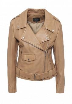 Куртка кожаная, Arma, цвет: бежевый. Артикул: AR020EWQOF38. Женская одежда / Верхняя одежда / Кожаные куртки