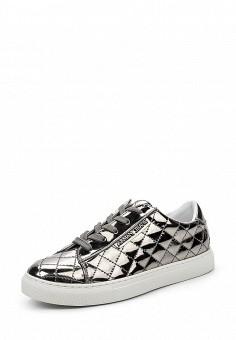 Кеды, Armani Jeans, цвет: серебряный. Артикул: AR411AWPWC63. Премиум / Обувь