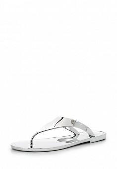 Шлепанцы, Armani Jeans, цвет: серебряный. Артикул: AR411AWPWC75. Премиум / Обувь