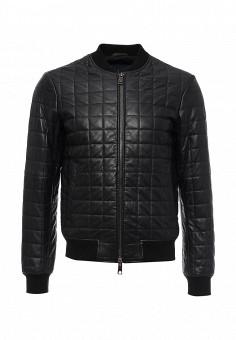 Куртка кожаная, Armani Jeans, цвет: черный. Артикул: AR411EMKAD36. Мужская одежда / Верхняя одежда / Кожаные куртки