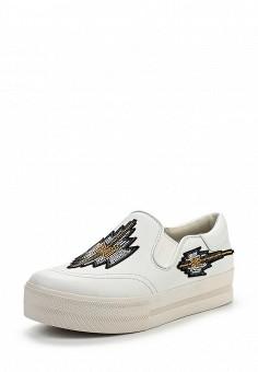 Слипоны, Ash, цвет: белый. Артикул: AS069AWQQY75. Женская обувь