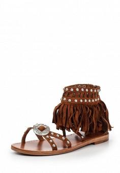 Сандалии, Ash, цвет: коричневый. Артикул: AS069AWQVZ74. Женская обувь