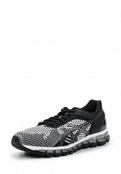 Кроссовки, ASICS, цвет: черно-белый. Артикул: AS455AWUMF68. Женская обувь / Кроссовки и кеды