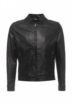 Куртка кожаная, Bata, цвет: черный. Артикул: BA060EMQDY27. Мужская одежда / Верхняя одежда / Кожаные куртки