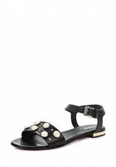 Сандалии, Baldinini, цвет: черный. Артикул: BA097AWPUX78. Женская обувь