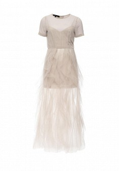 Платье, BCBGMaxAzria, цвет: серый. Артикул: BC529EWNWQ28. Женская одежда / Платья и сарафаны / Вечерние платья