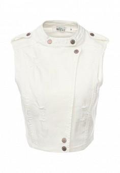 Жилет джинсовый, Befree, цвет: белый. Артикул: BE031EWSLE62. Женская одежда / Верхняя одежда / Жилеты