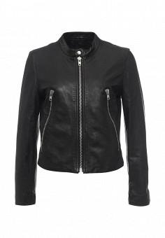 Куртка кожаная, Blouson, цвет: черный. Артикул: BL033EWQGN40. Премиум