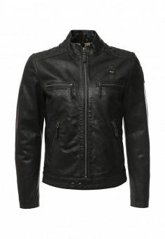 Куртка кожаная, Blauer, цвет: зеленый. Артикул: BL654EMLGJ42. Мужская одежда / Верхняя одежда / Кожаные куртки