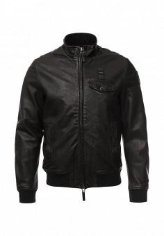 Куртка кожаная, Blauer, цвет: черный. Артикул: BL654EMLGJ43. Мужская одежда / Верхняя одежда / Кожаные куртки