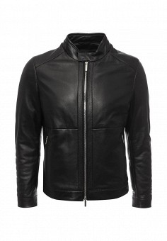 Куртка кожаная, Boss, цвет: черный. Артикул: BO246EMNOX66. Мужская одежда / Верхняя одежда / Кожаные куртки