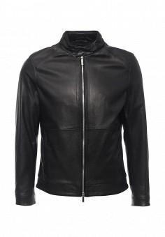 Куртка кожаная, Boss, цвет: черный. Артикул: BO246EMORZ27. Мужская одежда / Верхняя одежда / Кожаные куртки