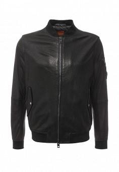 Куртка кожаная, Boss Orange, цвет: коричневый. Артикул: BO456EMIUZ59. Мужская одежда / Верхняя одежда / Кожаные куртки