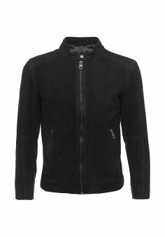 Куртка кожаная, Boss Orange, цвет: черный. Артикул: BO456EMORW40. Мужская одежда / Верхняя одежда / Кожаные куртки