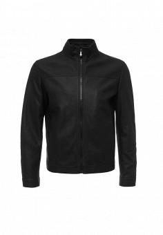 Куртка кожаная, Boss Green, цвет: черный. Артикул: BO984EMORI88. Мужская одежда / Верхняя одежда / Кожаные куртки