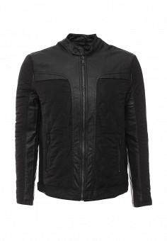 Куртка кожаная, Brave Soul, цвет: черный. Артикул: BR019EMJRF48. Мужская одежда / Верхняя одежда