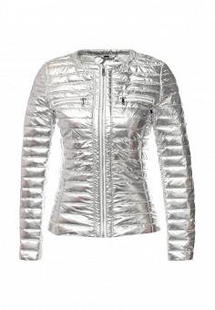 Куртка утепленная, B.Style, цвет: серебряный. Артикул: BS002EWQVN73. Женская одежда / Верхняя одежда / Демисезонные куртки