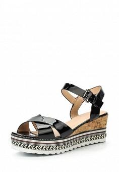 Босоножки, Catisa, цвет: черный. Артикул: CA072AWTFO26. Женская обувь / Босоножки